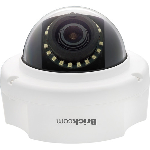 Brickcom FD-500Ap 5MP Day/Night IR Full HD Fixed Dome Network Camera with SmartFocus, PoE & 3.3 to 10.5mm Varifocal Lens