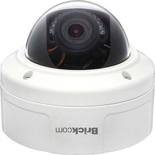 Brickcom VD-202Ap 2MP Full HD Outdoor Vandal Dome Network Camera with 3.3 to 10.5mm Lens & Built-in Heater