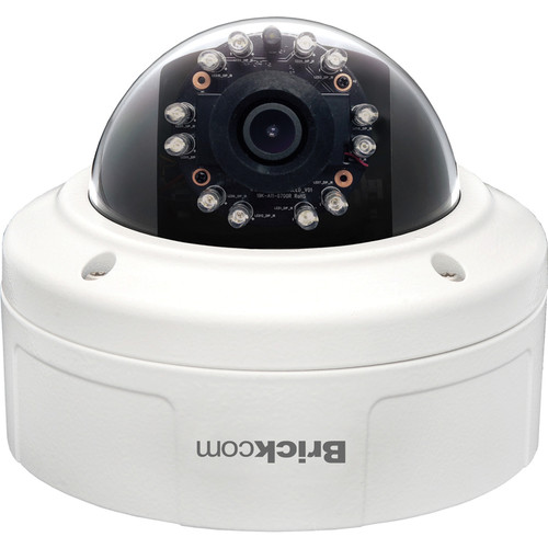 Brickcom VD-301AF 3MP Day & Night Full HD Outdoor Vandal Dome IR Network Camera with PoE & 4mm Lens