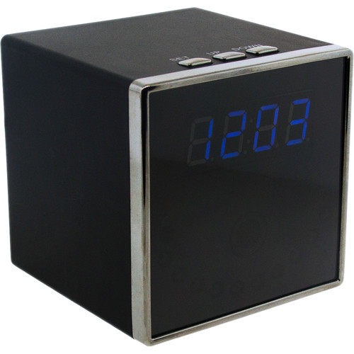 BrickHouse Security Digital Clock with 2MP Wi-Fi Hidden Camera (Square)