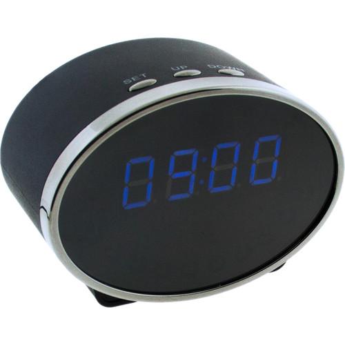 BrickHouse Security Digital Clock with 2MP Wi-Fi Hidden Camera (Oval)