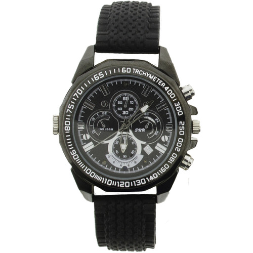 BrickHouse Security Wristwatch with 1080p Covert Camera (Black)
