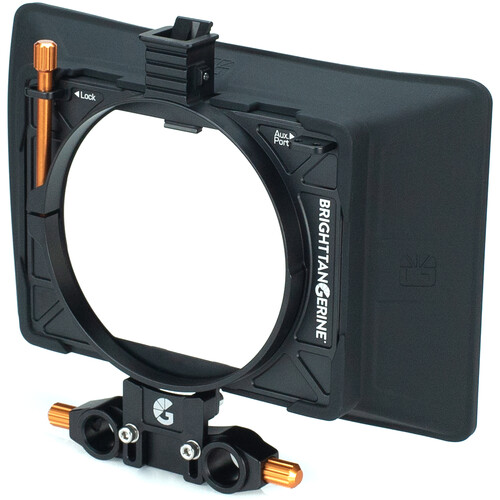 Bright Tangerine Misfit Atom Clamp-On Matte Box with Anti Reflective Tilt Bracket and 15mm LWS Rod Clamp