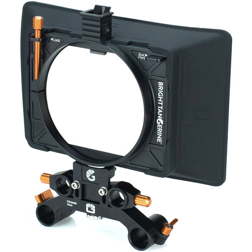 Bright Tangerine Misfit Atom Clamp-On Matte Box with Anti Reflective Tilt Bracket and 15mm LWS / 19mm Studio Rod Clamps