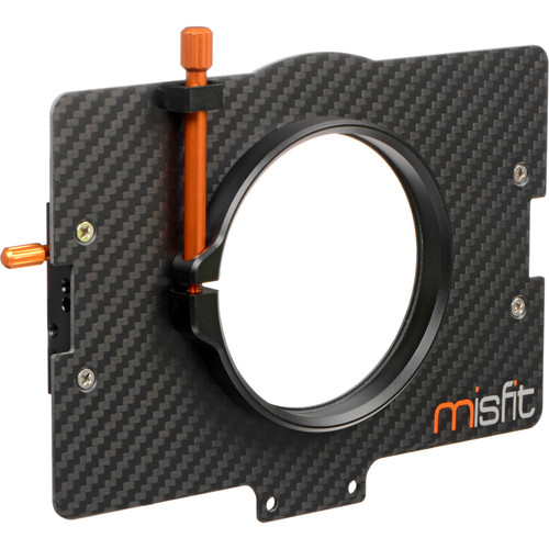 Bright Tangerine 80mm Clamp Lens Attachment for Misfit Matte Box