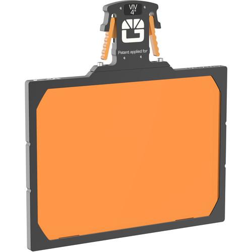 "Bright Tangerine 4 x 5.65"" Gripper Filter Tray for VIV Matte Box"