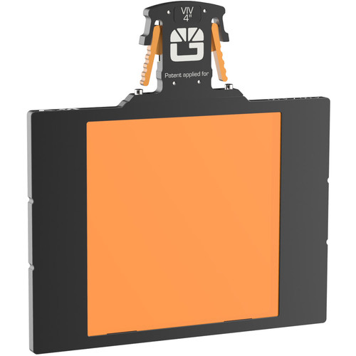 "Bright Tangerine 4 x 4"" Gripper Filter Tray (VIV, 5.65"" Stage)"