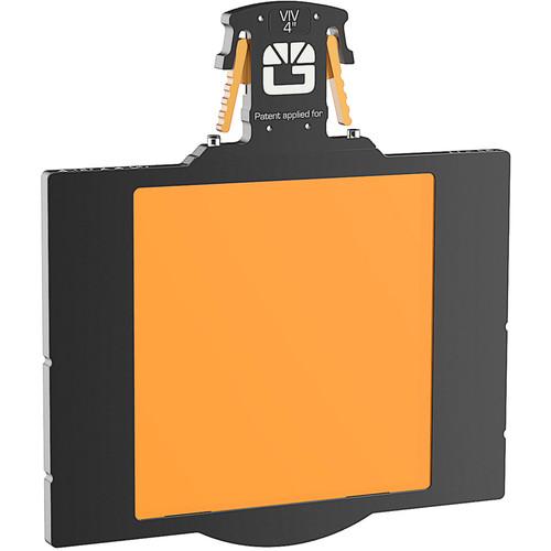 "Bright Tangerine 4 x 4"" Gripper Filter Tray (Misfit, 5.65"" Stage)"