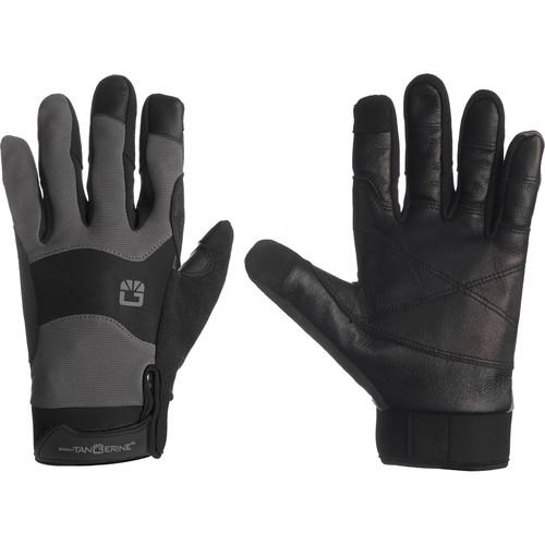 Bright Tangerine ExoSkin Leather Armour Gloves (S)
