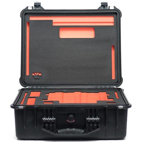"Bright Tangerine Pelican 1550 Case with Custom Foam for Strummer DNA 6.6/5.65"" Matte Box"