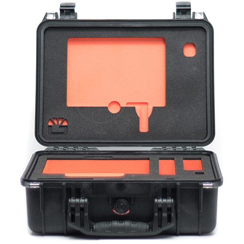 Bright Tangerine Pelican 1450 Case with Custom Foam for Misfit Atom Matte Box