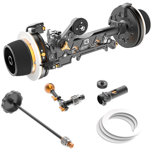 Bright Tangerine Revolvr Dual-Sided 15mm Studio Follow Focus Kit
