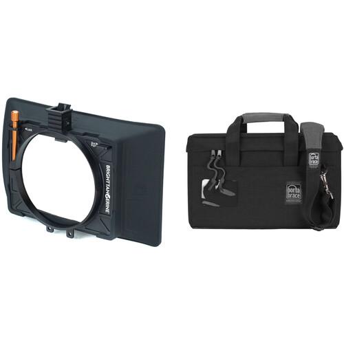 "Bright Tangerine Misfit Atom 4x5.65""/4x4"" Ultra Lightweight 2-Stage Clip-On Matte Box Kit with Matte Box Soft Case"