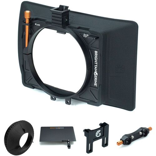 Bright Tangerine Misfit Atom Matte Box with Top Flag, Donut & 15mm Rod Mount Accessories Kit