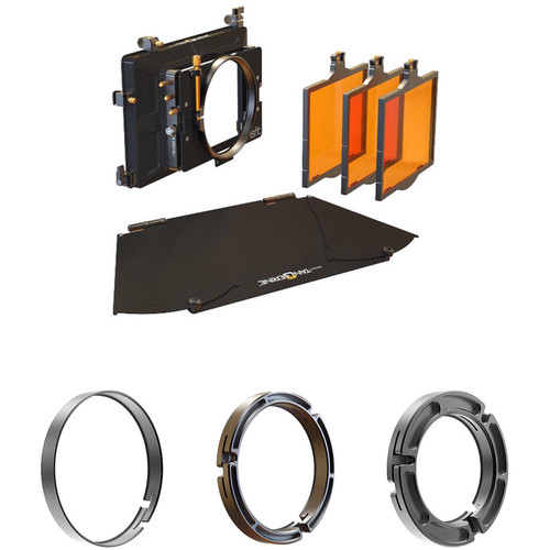 Bright Tangerine Misfit Matte Box with 114-110, 114-95, and 114-80mm Clamp-On Rings Kit