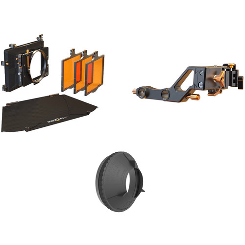 Bright Tangerine Misfit Matte Box with Swing Away & 143mm Black Hole Donut Kit