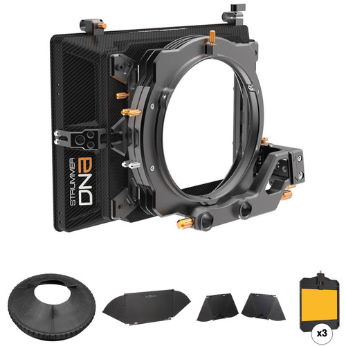 Bright Tangerine Strummer DNA Matte Box Kit 2 with Flags, Donut & Horizontal Filter Tray