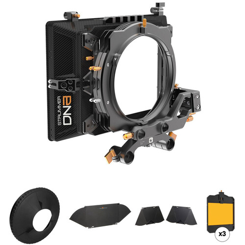 Bright Tangerine Strummer DNA Matte Box Kit 4 with Flags, Donut & Horizontal Filter Tray