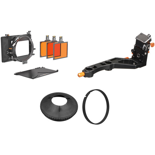 Bright Tangerine Viv Matte Box Kit 2 with Swing-Away Rod Clamp and Black Hole Donut