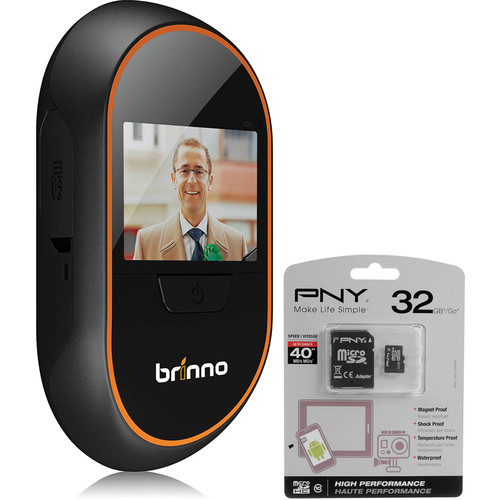 Brinno PHV MAC 1.3MP Peephole Camera Kit with 32GB microSDHC Card and SD Adapter