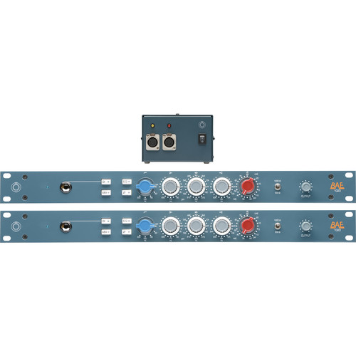 BAE 1023 3-Band EQ (Pair), with Power Supply, Rackmount Kit