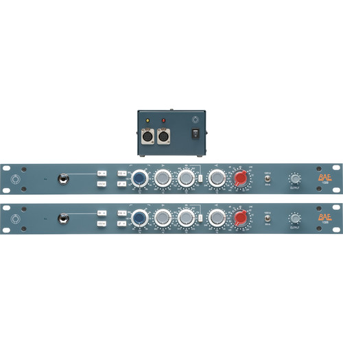 BAE 1028 3-Band EQ (Pair), with Single Power Supply, Rackmount Kit
