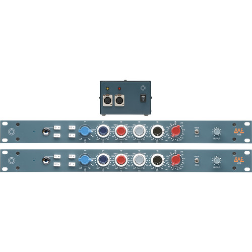 "BAE 1032 4-Band Mic/Line Preamp Module (Pair, 19"" Rackmount Version, With Power Supplies)"