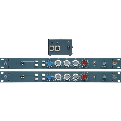 "BAE 1066D Mic/Line Preamp Module (Pair, 19"" Rackmount, Power Supply)"