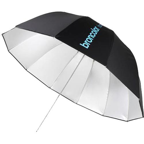 """Broncolor Focus 110 cm Silver/Black Umbrella (43.3"""")"""