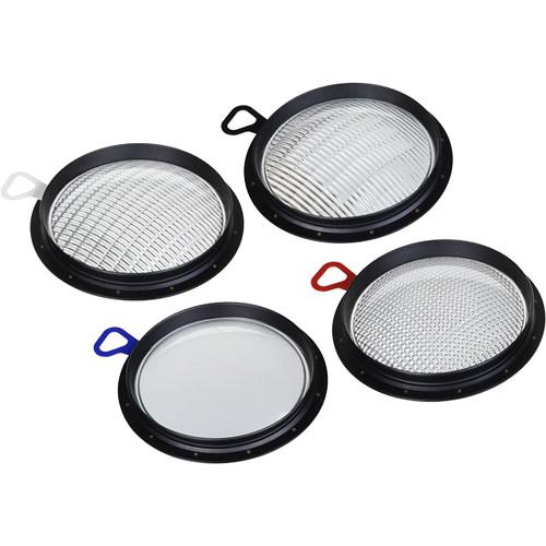 Broncolor Set of PAR Lenses for HMI F400 Lamp Head (4-Piece)