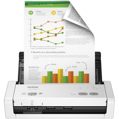 Brother ADS-1250W Wireless Document Scanner