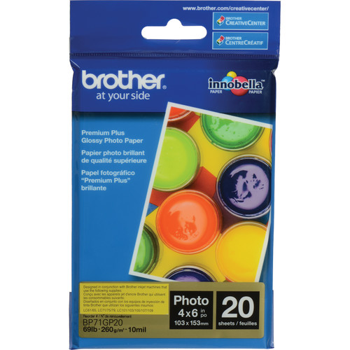 "Brother Innobella Glossy Photo Paper (4 x 6"", 20 Sheets)"