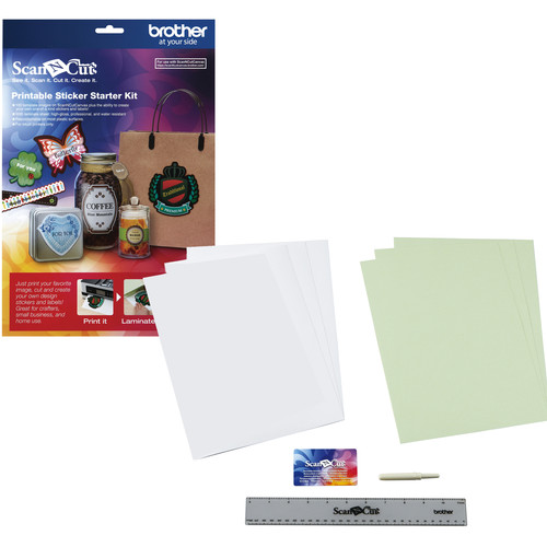 Brother Printable Sticker Starter Kit for ScanNCut Machines