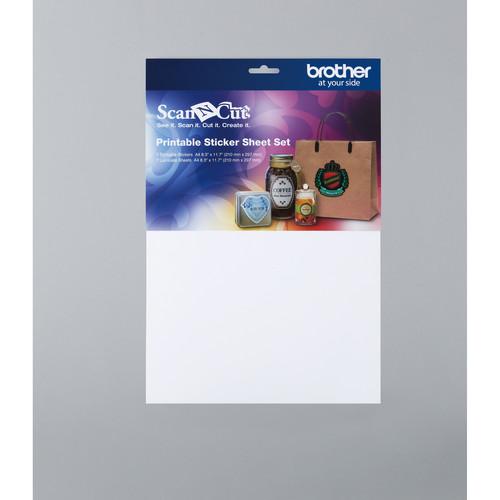 Brother Printable Sticker Sheet Set for ScanNCut (7 Sticker, 7 Laminate)