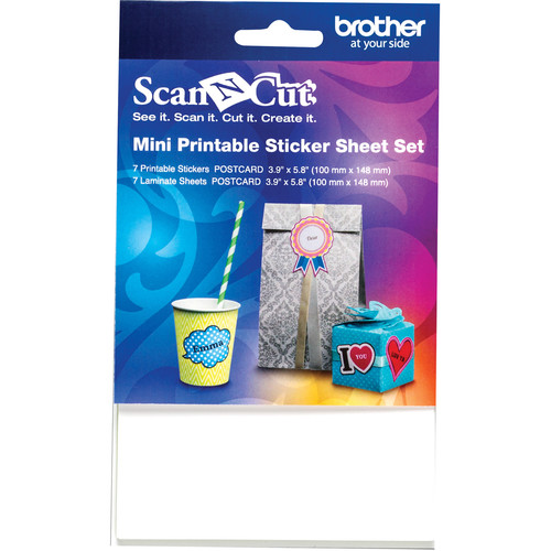 """Brother Mini Printable Sticker Set for ScanNCut Machines (3.9 x 5.8"""")"""