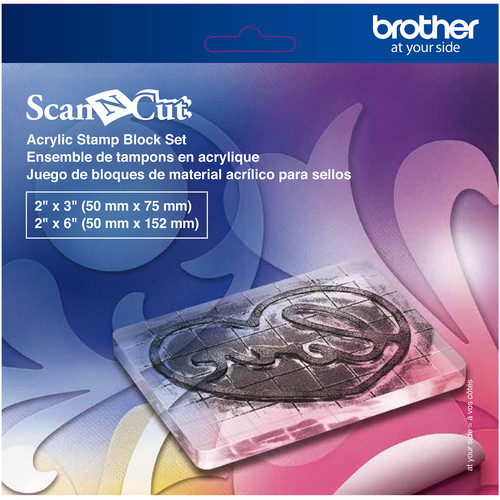 Brother Acrylic Stamp Block Set for ScanNCut Machines