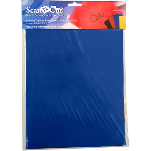 """Brother Iron-On Transfer Film Sheets for ScanNCut Machines (4-Pieces, 8.5 x 11"""")"""