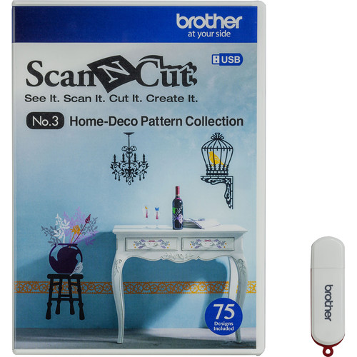 Brother USB No. 3 Home-Deco Pattern Collection