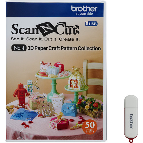 Brother USB No. 4 3D Paper Craft Pattern Collection for ScanNCut Machines