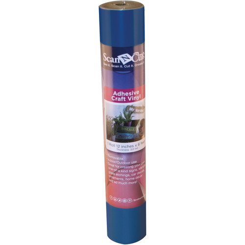 Brother Adhesive Craft Vinyl for ScanNCut Machines (6' Roll, Blue)