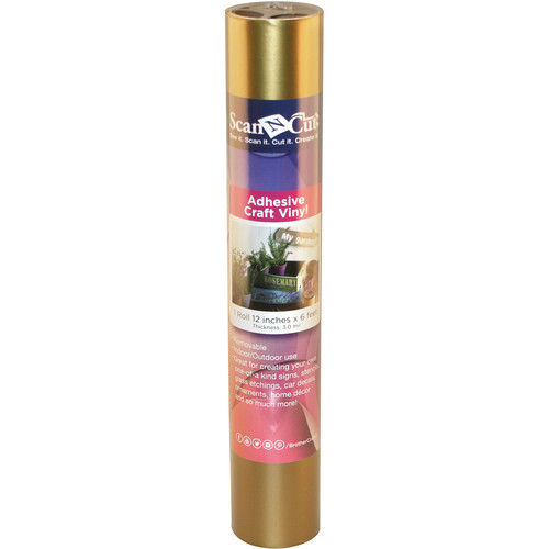 Brother Adhesive Craft Vinyl for ScanNCut Machines (6' Roll, Gold)