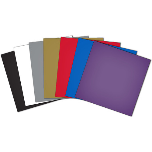 """Brother Adhesive Craft Vinyl for ScanNCut Machines (10-Pieces, 12x12"""", Multi-Colored)"""