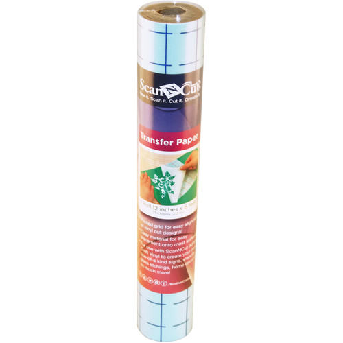 "Brother Adhesive Transfer Paper with Grid for ScanNCut Machines (12"" x 6')"