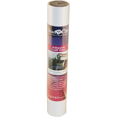 Brother Adhesive Craft Vinyl for ScanNCut Machines (6' Roll, White)