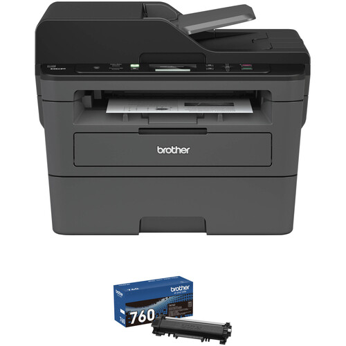 Brother DCP-L2550DW All-in-One Monochrome Laser Printer with TN760 High Yield Black Toner Kit