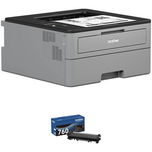 Brother HL-L2350DW Monochrome Laser Printer with TN760 High Yield Black Toner Kit