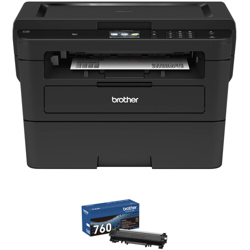 Brother HL-L2395DW All-in-One Monochrome Laser Printer with TN760 High Yield Black Toner Kit