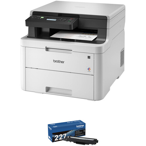 Brother HL-L3290CDW Compact LED Color All-in-One Printer with Toner Kit