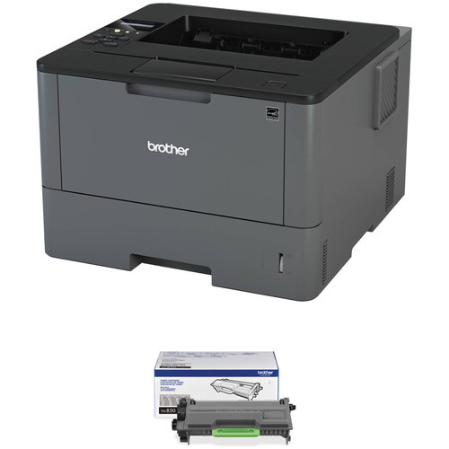 Brother HL-L5100DN Monochrome Laser Printer with TN850 High Yield Black Toner Kit