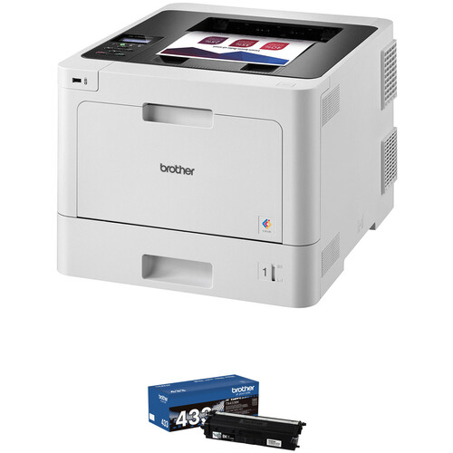 Brother HL-L8260CDW Color Laser Printer with Spare High-Yield Black Toner Cartridge Kit